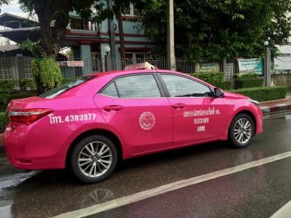 Taxi em Bangkok, Tailândia