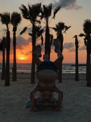 Frishman Beach, Gordo Beach, Hilton Beach, as praias de Tel-Aviv, Israel.