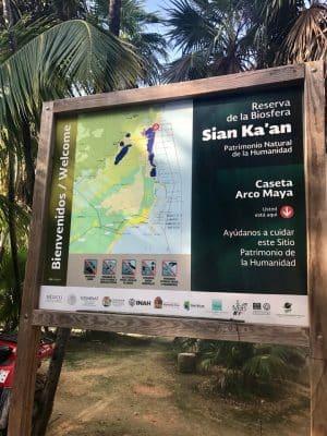 A reserva de Sian Ka'an em Tulum, México