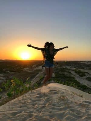 Pôr do sol nas dunas - Guajiru, Trairi, Ceará